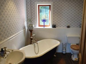 Bath in traditional style bathroom